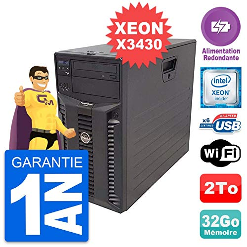 Dell - Servidor PowerEdge T310 Intel X3430 RAM 32 GB, 2 TB, alimentación reacondicionada