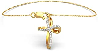 0.182 cttw Round-Cut-Diamond 18K Yellow Gold 7.75 inches IJ| SI identification-bracelets Size