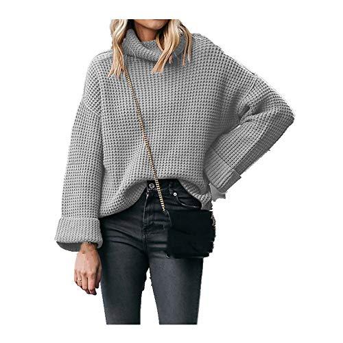 N\P Otoño e Invierno Suéter de Cuello Alto de las Mujeres T-Shirt Suéter de las Mujeres