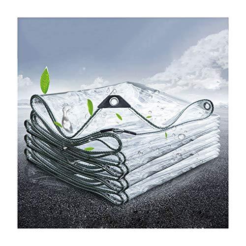 GDMING Bâches Transparente Imperméable Version 2020 Mise À Jour Toiles Protectrices avec Angle D'enroulement Et Oeillets Extérieur Poncho Crème Solaire Bâches en Plastique PVC, 21 Tailles