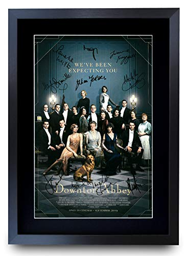 HWC Trading Downton Abbey Cast Gifts gedrucktes Autogramm für TV-Fanartikel, A3 gerahmt