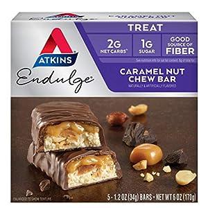 Atkins Endulge Treat Caramel Nut Chew Bar. Rich & Decadent Treat. Keto-Friendly. (5 Bars) 1