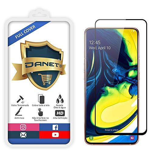 """Película De Vidro Temperado 3D Full Cover Para Samsung Galaxy A80 e A90 Com Tela De 6.7"""" - Proteção Blindada Top Premium Que Cobre Toda A Tela - Danet"""