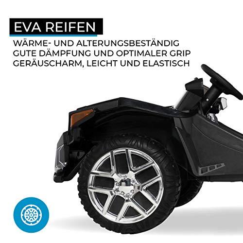 RC Auto kaufen Kinderauto Bild 5: Actionbikes Motors Kinder Elektroauto GT Super Speed JC888 – 4x40 Watt Motor – 2-Sitzer - Eva Reifen – Allrad – Kinderauto (Schwarz)*