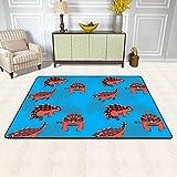 Rug Pad Dinosaur Euoplocephalus Cartoon Background Seamless Wallpaper stock Play Mat Indoor Area Rugs Floor Baby Crawling Mat Non-Slip Carpet for Living Room/Bedroom/Hallway Home Decoration (4 x 5 Ft)
