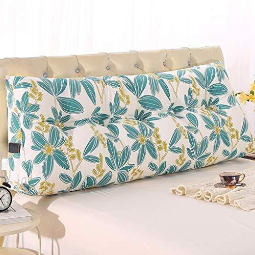 Dongy Triángulo de Noche Cojín Cama Tatami cojín Grande Volver cojín del sofá de la Cintura Almohada extraíble y Lavable (Color : A, Size : 150cm)
