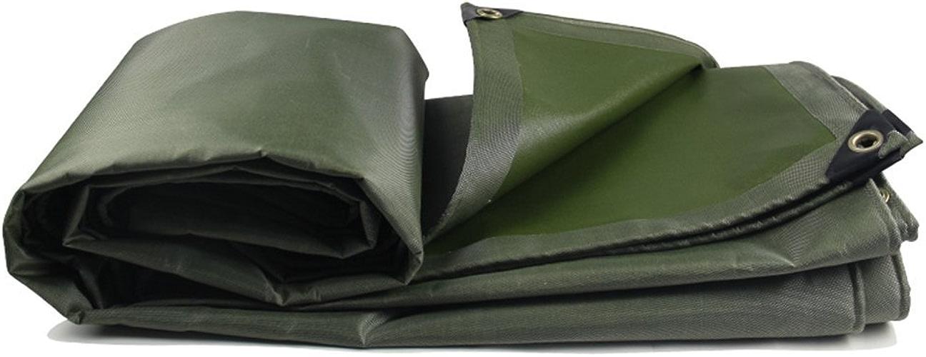 Yetta Tapis de Camping imperméable en Toile épaisse imperméable à l'eau de Pluie, Isolation Solaire pour Cargaison et Toile de Prougeection en Bois résistant à l'usure (Couleur   vert, Taille   2x3M)