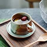 YUNZI Set Da Tè E Caffè Set Da Tè Cinese Tazza E Piattino Da Caffè in Ceramica Fatti A Mano Creativi Tazza Da Forno Personalizzata in Stile Europeo Tazza Retrò,A