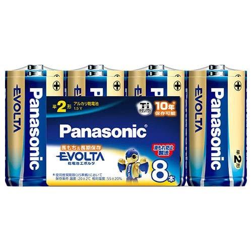パナソニック 乾電池 エボルタ アルカリ乾電池 単2形 8本パック LR14EJ/8SW