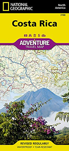 Costa Rica: Travel Maps International Adventure Map: NG.AM3100 [Idioma Inglés]