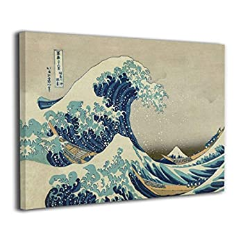 MARTOO ART The Great Wave Off Kanagawa Wall Artworks Painting for Home Decoration Bathroom Wall Decor Canvas Prints Pictures 8 x12