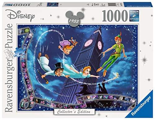 Ravensburger Puzzle 1000 piezas, Peter Pan, Disney, Rompecabezas de calidad, Edad Recomendada 12+