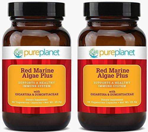 Pure Planet Red 正規逆輸入品 Marine Algae Plus VegCaps 正規激安 2 of - Pack 90