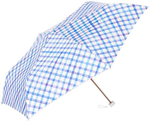ムーンバット ミニ傘UV 水彩チェック 3123010073-2-73-55