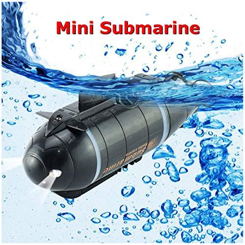 YANGUANG Mini RC Submarino 6 Canales De Control Remoto A Prueba De Agua Modelo Submarino Buceo Recargable RC Barco Regalo De Juguete para Adultos Niños,Negro
