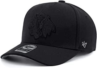 '47 Men's Chicago Hawks Audible Snapback MVP DP Caps-Sports Clothing, Black, One Size