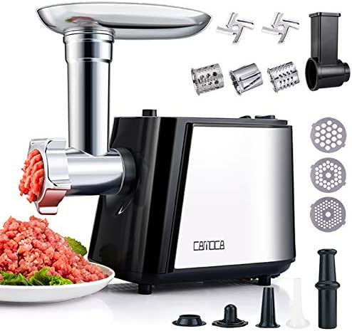 CAMOCA Meat Grinders for Home Use Stainless Steel Meat Grinder Electric 1600W Max Food Grinder product image