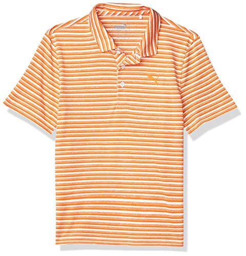 PUMA 2020 - Polo para niño, 2020 Links Polo, Niños, Color Naranja Vibrante, tamaño Large