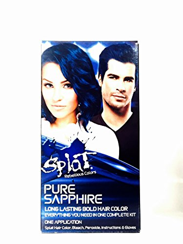 Splat Rebellious Colors Hair Coloring Complete Kit, Pure Sapphire