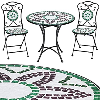 ⋙Prix Salon mobilier de jardin mosaique FLORALIS 1 table 2 ...