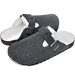 40%OFF KOLILI Womens Cork Clogs for Women, Indoor Outdoor Fuzzy Slipper Warm Shoes