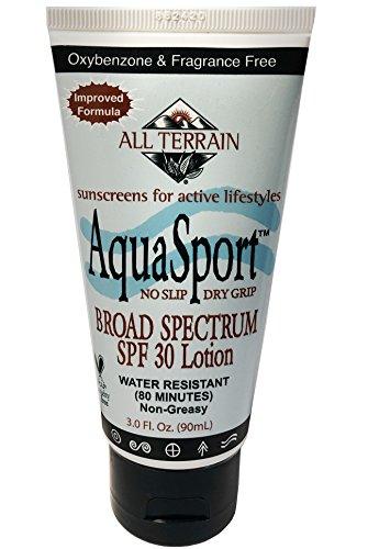 All Terrain AquaSport SPF30 Sunscreen 3oz, Mineral Sunscreen, With Zinc Oxide, Using Natural Ingredients