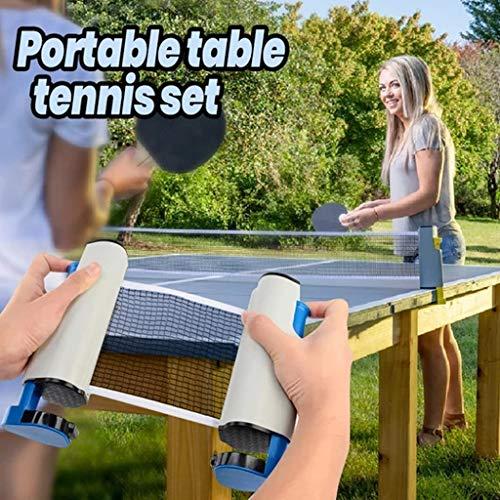 Find Bargain LIFERRI Portable Retractable Table Tennis Net,Ping Pong Post Net Rack Set,Adjustable An...