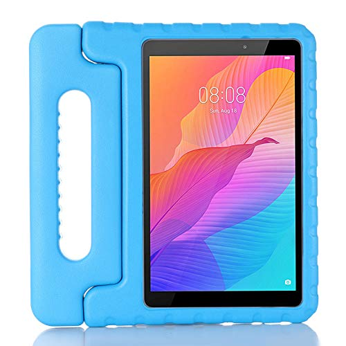 ZiHang Funda Infantil Huawei MatePad T8 8.0 Pulgadas, Carcasa Niño Antigolpes con Asa Convertible Tapa de Soporte, Funda Bebé Ligera para Huawei MatePad T8 8.0 Pulgadas (Azul)