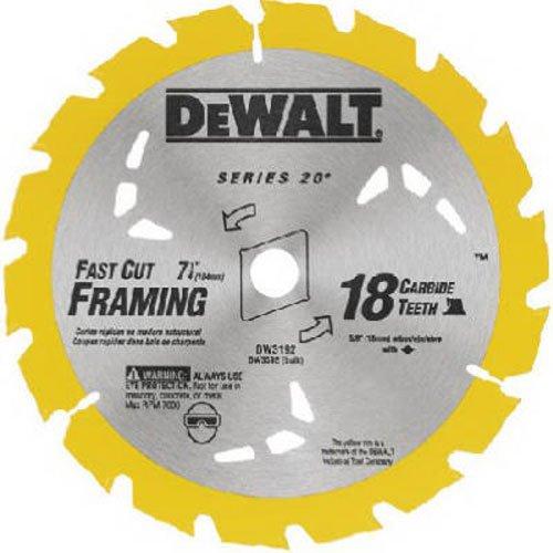 DEWALT DW3592B10 7-1/4-Inch 18T Carbide Thin Kerf Circular Saw Blade