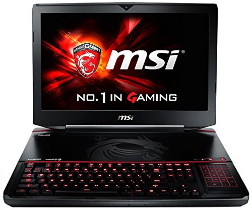 MSI GT80S-6QEX32SR42BW ,46,74 cm (18,4 Zoll) Laptop (Intel Core i7 6920HQ, 32GB RAM, 1280GB HDD/SSD, Win 10 Home) schwarz/grau