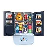 Kühlschrank Spielzeug Realistische Rollenspielgerät für Kinder, Simulation Kühlschrank Küchenspielzeug Doppeltür Mini Haushaltsgeräte, Einzigartiges Spielzeug Mehrfarbig, Alter 2+