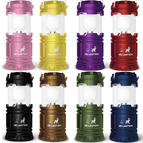 MalloMe Lanterns Battery Powered LED - Camping Lantern Emergency Hurricane Lights - Portable Camp Tent Lamp Light Operated at Home, Indoor, Power Outages