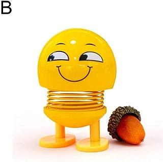 Delleu Jouet Mignon Emoji Secouant La T/ête De Poup/ée Table De Voiture Ornement Tableau De Bord Ornements Ressorts Danse Jouet Dr/ôle Jouets