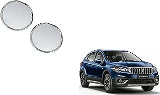 Autoladders Chrome Blind Spot Mirror Set of 2 for Maruti Suzuki S-Cross