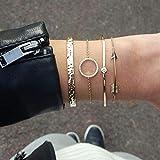Jovono Simple Cerceau Creux Bracelet Ouvert Terminé Large B