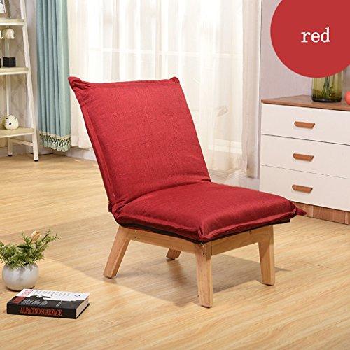 Fauteuils inclinables Fauteuils et Chaises Tatami Canapé Paresseux canapé Occasionnel Pliant Chaise de Dossier (Color : Red)