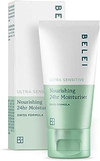 Marca Amazon - Belei Crema hidratante nutritiva 24horas para pieles ultrasensibles 50ml