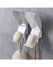 石鹸 ケース 水切り 石鹸置き SAPAS ソープディッシュ 石けん皿 吸盤 水が流れる カバー付き