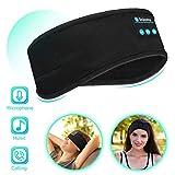 *Mestron - Auriculars *Bluetooth per a dormir, amb diadema esportiva sense fil, amb altaveu estèreo prim desmuntable per a dormir, esports, meditació i relaxació, diadema esportiva (negre)