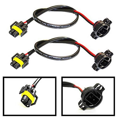 (2) iJDMTOY 5202 to H11 Pigtail Sockets Wires Compatible With Subaru BRZ Scion FR-S Fog Lamps Conversion Retrofit