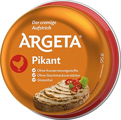 12x Argeta - Pikant, Hühner-Aufstrich - 95g