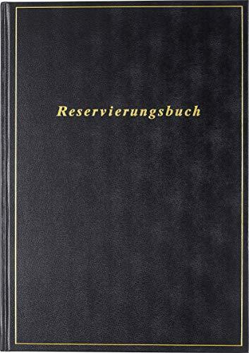 rido/idé 7027403901 Reservierungsbuch, 1 Seite = 1 Tag, 210 x 297 mm, Balacron-Einband schwarz, Kalendarium 2021