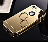 CHL Luxury Metal Bumper + Acrylic Mirror Back Cover Case For Apple iPhone