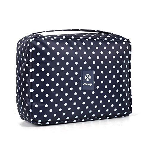 Reise Kulturtasche Zum Aufhängen Kulturbeutel Kosmetiktasche Waschtasche für Kinder Frauen Mädchen Damen (Polka Punkt (Großer))