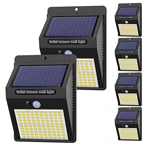 Hepside Luz Solar Exterior,【6 Pack / 3 Modos】Luces LED