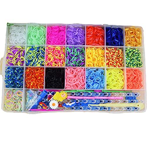 Caja de pulsera de Goma, Hacer una Pulsera de Goma, Pulsera de Caja con Banda de Goma, para la Producción de Pulseras, Cintas para el Pelo, Accesorios (Color)