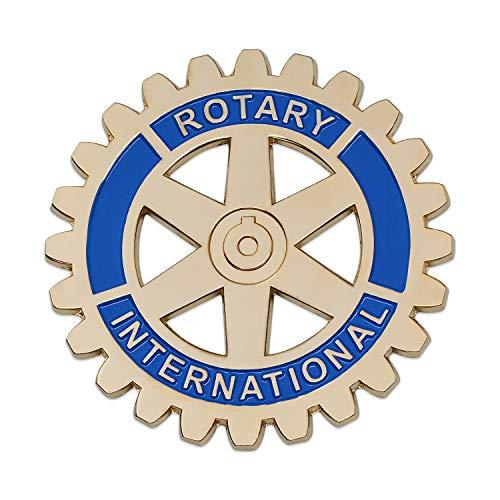 Rotary International Round Masonic Auto Emblem - [Gold & Blue][3'' Diameter]