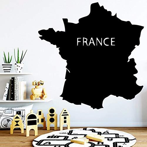 Zxdcd Fun Frankrijk kaart milieu behang bescherming Vinyl Stickers voor kinderen kamers PVC muurstickers 57 * 57 Cm