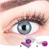 Sehr stark deckende und natürliche blaue Kontaktlinsen SILIKON COMFORT NEUHEIT
