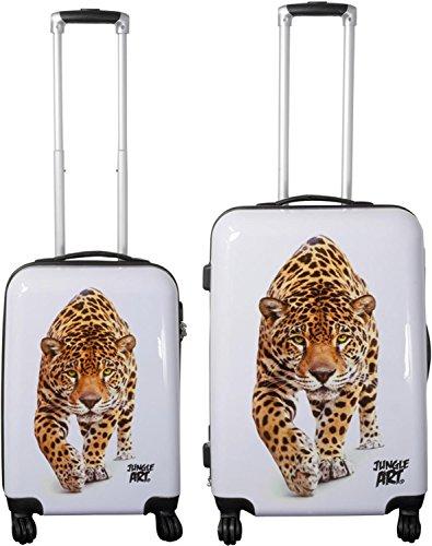 normani ABS Hartschalen Koffer Set Ausführungen Farbe Jungle/Leopard